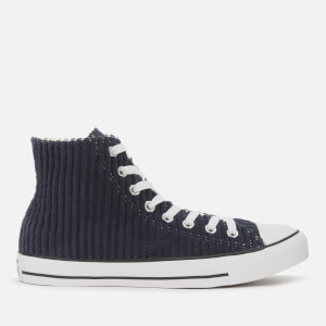 Converse Men's Chuck Taylor All Star Wide Wale Cord Hi-Top Trainers - Dark Obsidian/White/Black