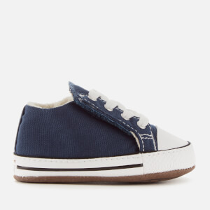 Converse Babies Chuck Taylor All Star Cribster Canvas Mid Trainers - Navy/Natural Ivory/White