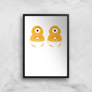 Monster Twins Art Print