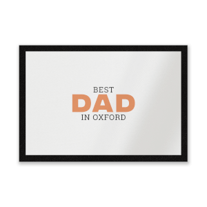 Best Dad In Oxford Entrance Mat