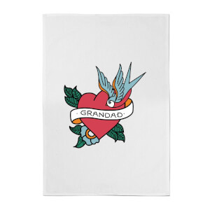 Grandad Heart Cotton Tea Towel