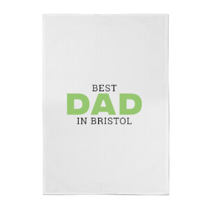 Best Dad In Bristol Cotton Tea Towel