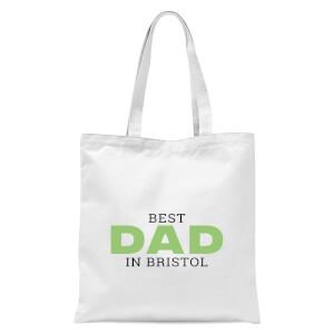 Best Dad In Bristol Tote Bag - White