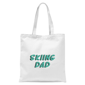 Skiing Dad Tote Bag - White