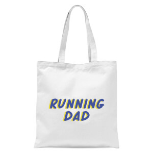 Running Dad Tote Bag - White