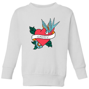 Daddy Heart Kids' Sweatshirt - White