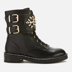 Kurt Geiger London Women's Stoop Leather Lace Up Boots - Black