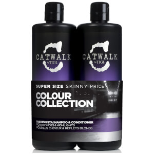TIGI Catwalk Fashionista Blonde Tween Shampoo and Conditioner 750ml
