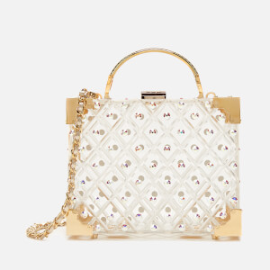 Aspinal of London Women's Mini Trunk Crystal Bag - Transparent - Gold