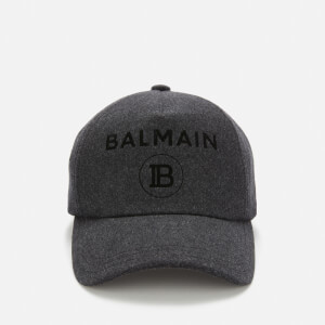 Balmain Men's Logo Cap - Anthracite