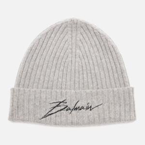 Balmain Men's Signature Beanie - Gris Chene
