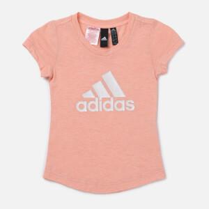 adidas Girls' Young Girls Winner T-Shirt - Pink