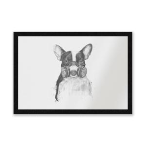 Masked Bulldog Entrance Mat