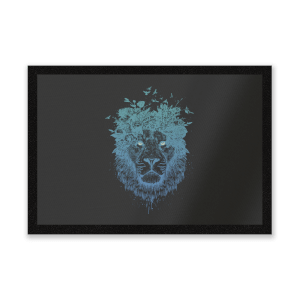 Lion And Butterflies Entrance Mat