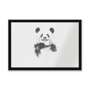 Moustache And Panda Entrance Mat