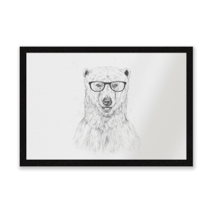 Polar Bear And Glasses Entrance Mat