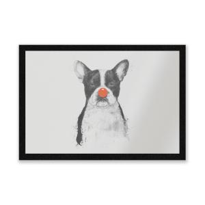 Red Nosed Bulldog Entrance Mat