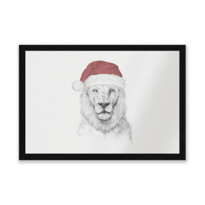 Santa Lion Entrance Mat