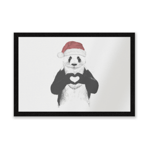 Santa Bear Entrance Mat