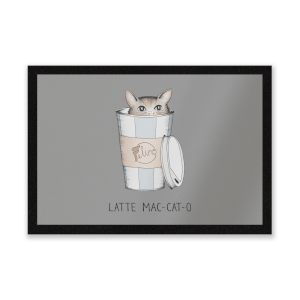 Latte Mac-Cat-O Entrance Mat