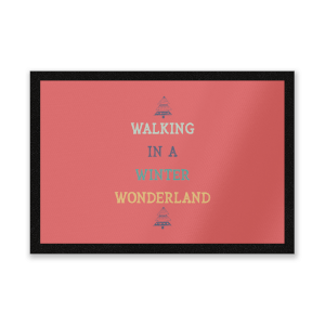 Walking In A Winter Wonderland Entrance Mat