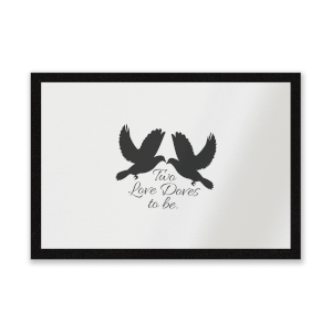 Two Love Doves To Be Entrance Mat