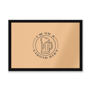Liquid Diet Beer Entrance Mat