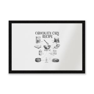 Chocolate Cake Recipe Entrance Mat