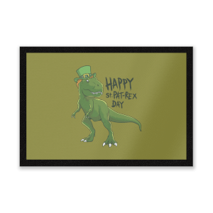 Happy St Pat-Rex Entrance Mat