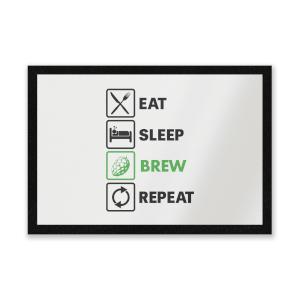Eat Sleep Brew Repeat Entrance Mat