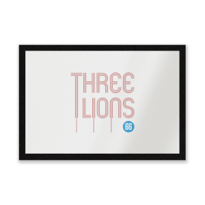 Three Lions Entrance Mat