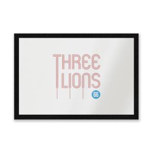 Three Lions Entrance Mat