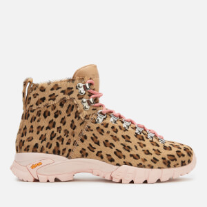 Diemme Women's Maser Pony Hiking Style Ankle Boots - Leopard