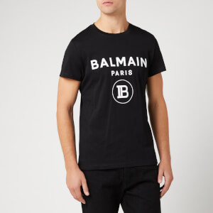 Balmain Men's T-Shirt with Logo Print - Noir