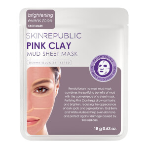Skin Republic Pink Clay Mud Face Sheet Mask 18g