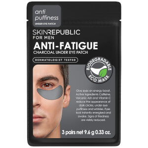Skin Republic Men's Anti-Fatigue Charcoal Under Eye Patches 9.6g (3 Pairs)