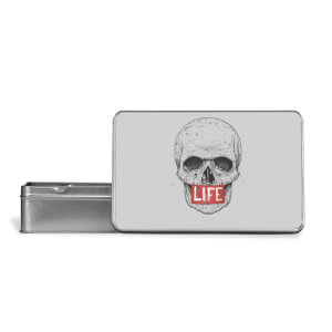 Life Skull Metal Storage Tin