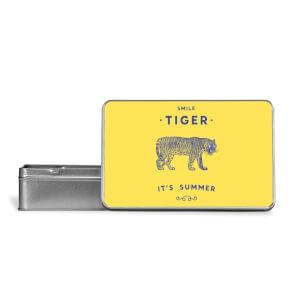 Smile Tiger Metal Storage Tin