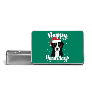 Happy Howlidays Metal Storage Tin