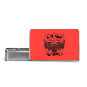 Beer Pong Champion Metal Storage Tin