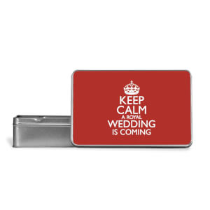 Keep Calm Wedding Coming Metal Storage Tin