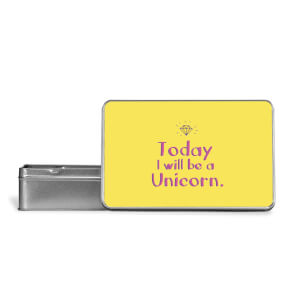 Today I Will Be A Unicorn Metal Storage Tin
