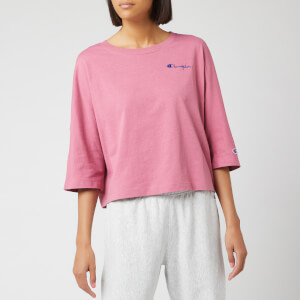 Champion Women's Back Script Oversized Cropped T-Shirt - Heather Rose