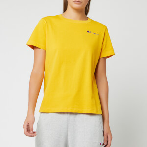 Champion Women's Small Script Crew Neck Short Sleeve T-Shirt - Golden Rod