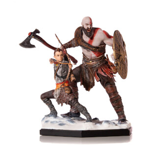 Figurine Kratos et Atreus, God of War, échelle Deluxe Art 1:10 (20 cm) – Iron Studios