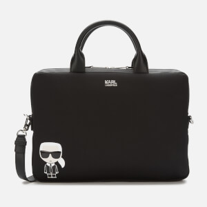 Karl Lagerfeld Women's K/Ikonik Laptop Sleeve with Strap - Black