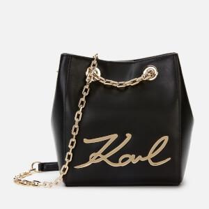 Karl Lagerfeld Women's K/Signature Bucket Bag - Black/Gold