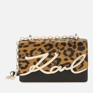 Karl Lagerfeld Women's K/Signature Spec Leopard Small Shoulder Bag - Leopard