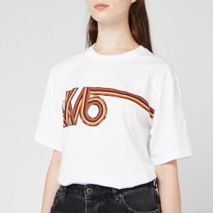 Victoria, Victoria Beckham Women's Vintage Logo Victoria T-Shirt - White