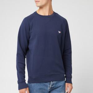 Maison Kitsuné Men's Sweatshirt Tricolor Fox Patch - Navy